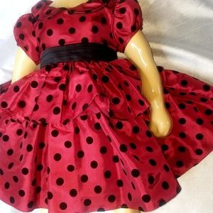 Holiday dress Bonnie Jean 18 my lights red & black